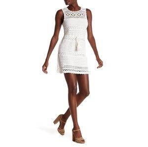 New JOIE Nawra Crochet Cotton Tank Dress